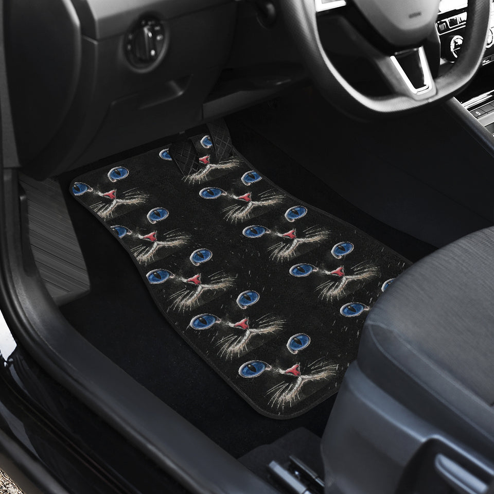 Blue eyed Cat Car Floor Mat