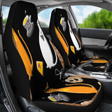 Black and White cat Car Seat Cover