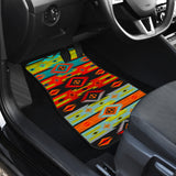 Kiva Psychedelic Front And Back Car Mats (Set Of 4)