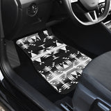 Between the Mountains Black and White Set of 4 Car Mats