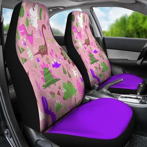 Purple Dinosaur Car Seat Covers