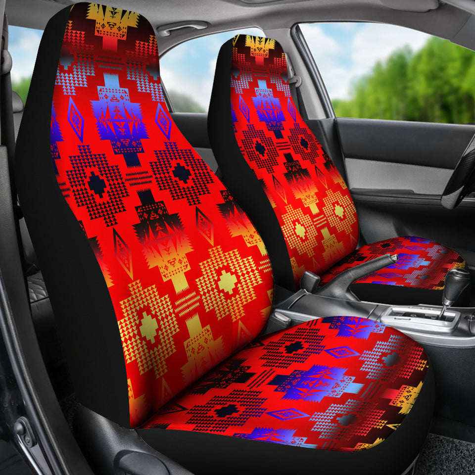 Seven Tribes Red Horizon Car Seat Covers