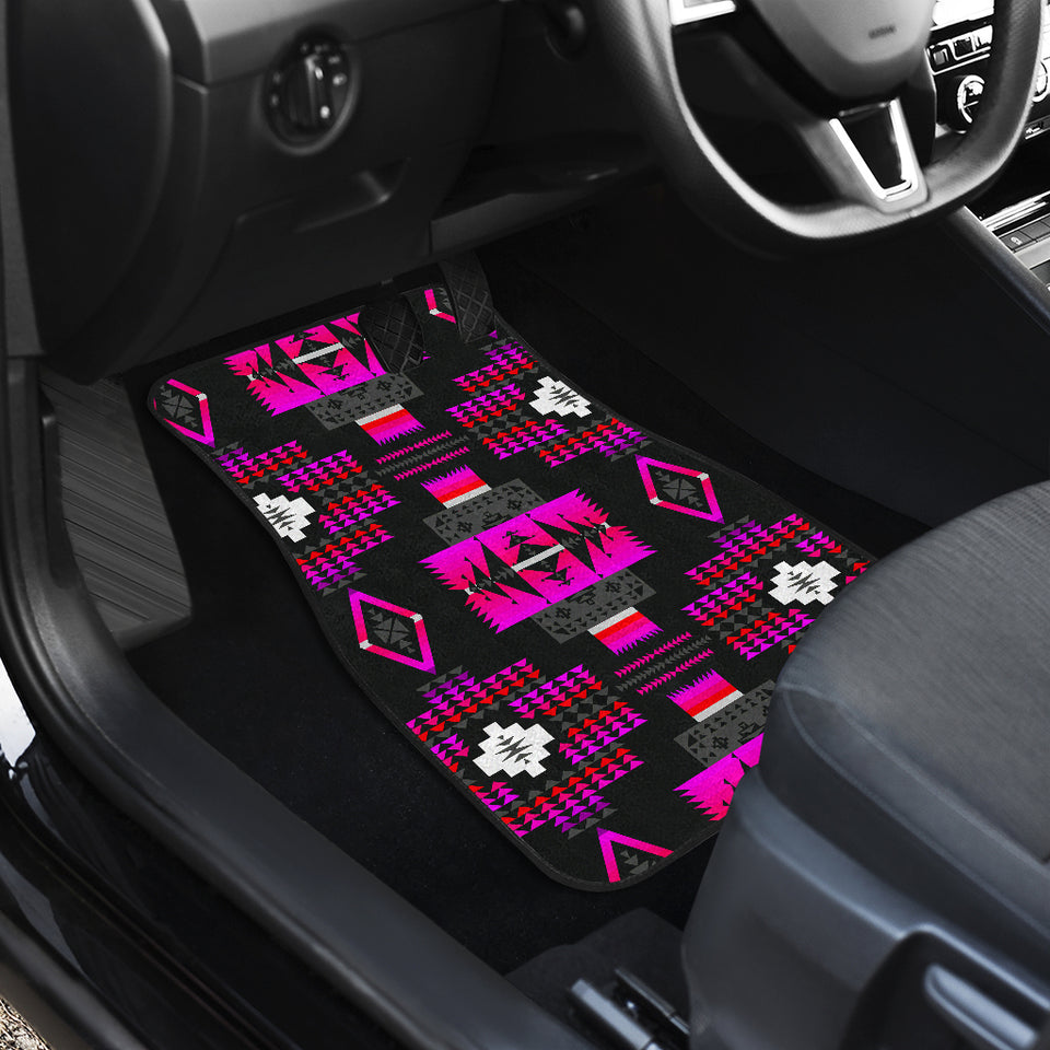 Midnight Pink Front And Back Car Mats (Set Of 4)