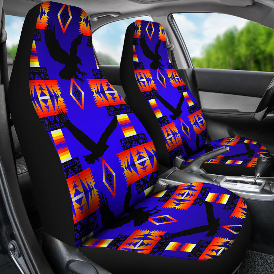 Seven Tribes Eagle Blue Car Seat Covers