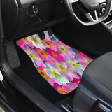 Bright Flowers Front Car Mats (Set Of 2)