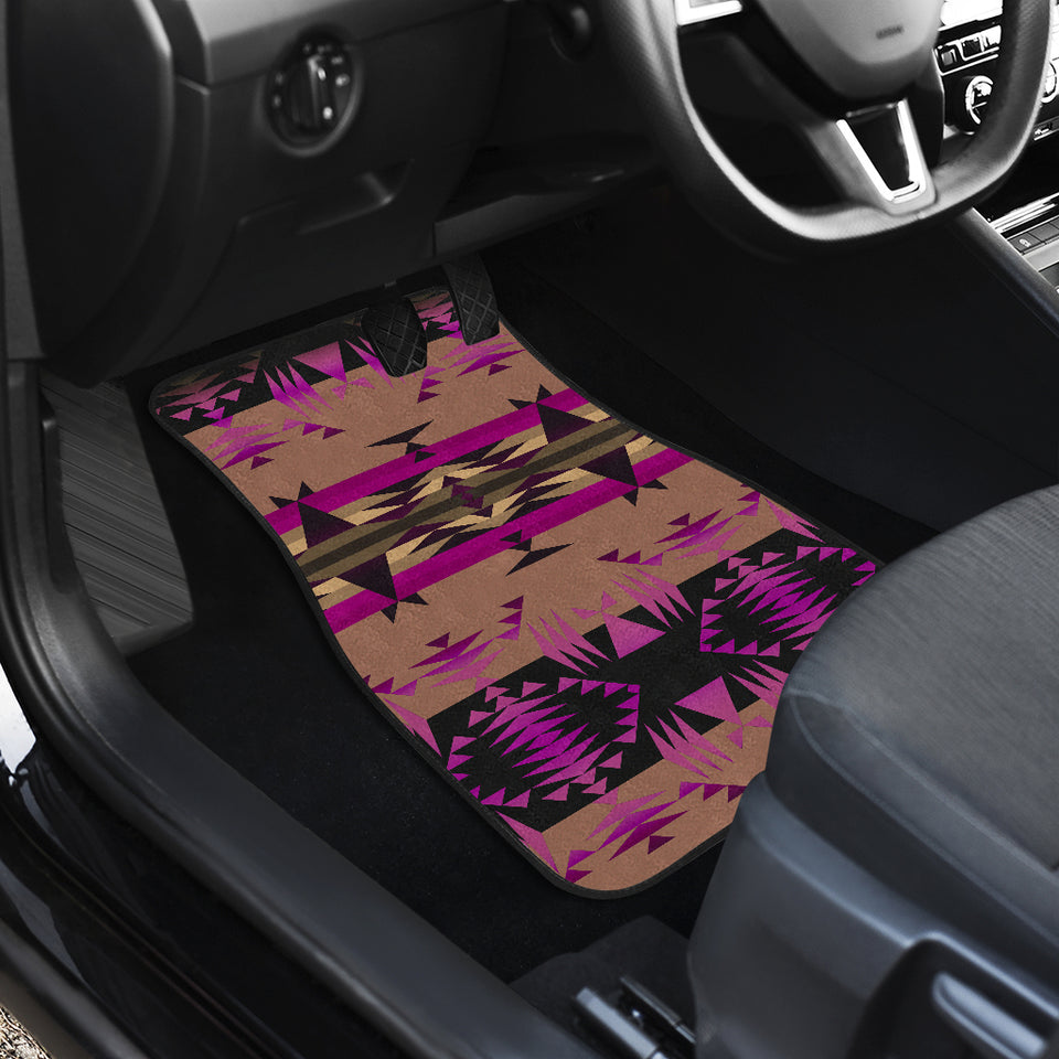 Between the Mountains Berry Set of 4 Car Mats
