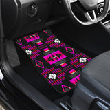 Midnight Pink Front Car Mats (Set Of 2)