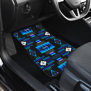 Seven Tribes Midnight Lake Front Car Mats (Set Of 2)