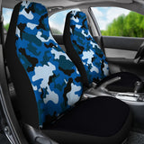 Blue Camouflage Car Seat Covers