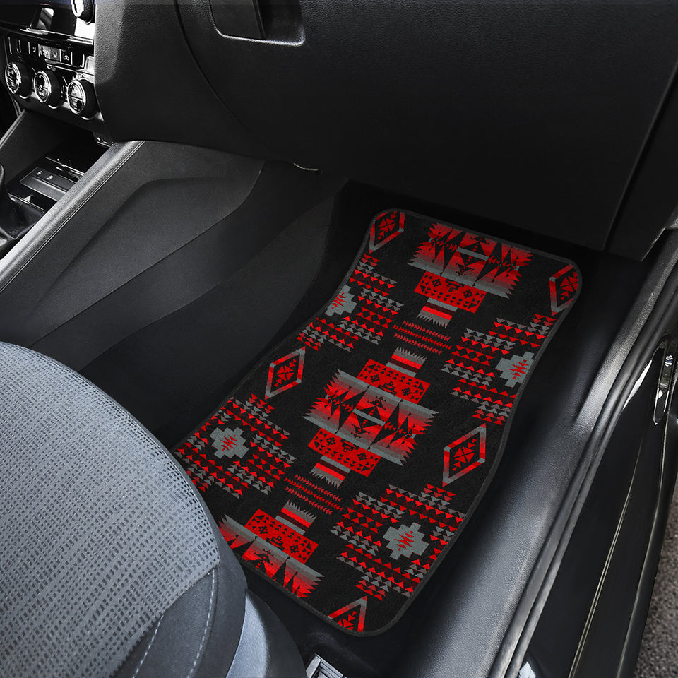 Midnight Red Front And Back Car Mats (Set Of 4)