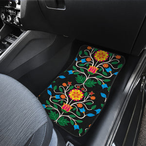 Floral Beadwork Four Clans Set of 4 Car Mats
