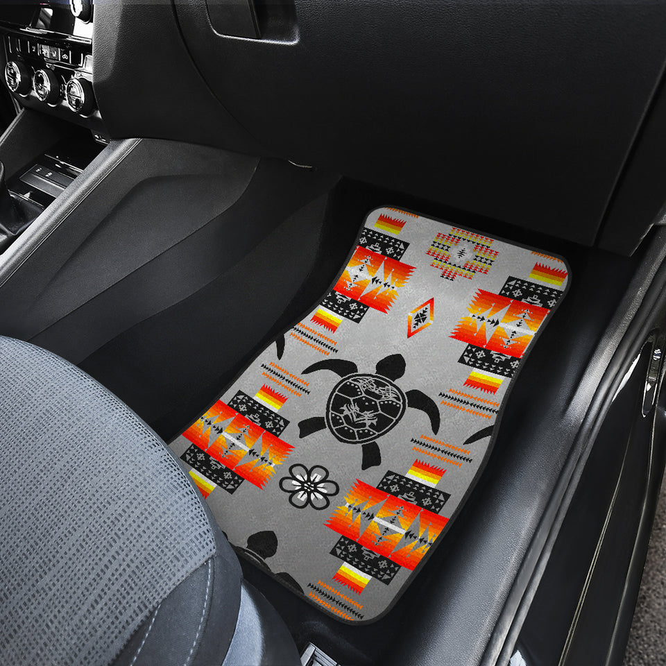 Turtle Gray Front And Back Car Mats (Set Of 4)