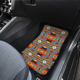 Seven Tribes Gray Front And Back Car Mats (Set Of 4)