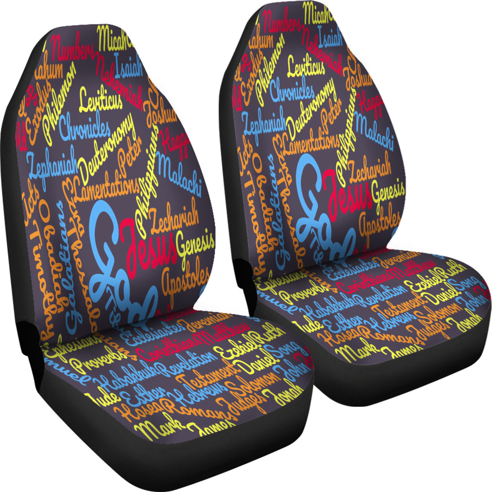 Custom-Made Holy Bible Books Grey Mixed Color Car Seat Cover