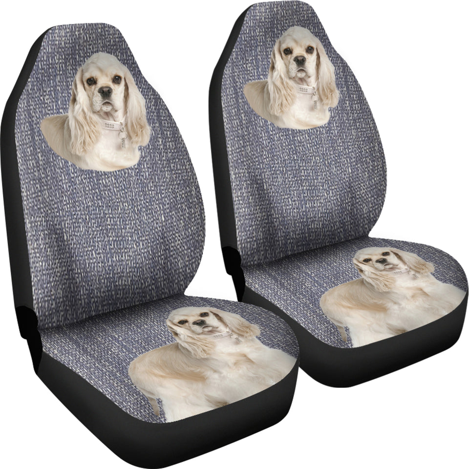 cocker spaniel Car Seat Cover