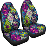 Purple Ethnic Pattern Car Seat Cover