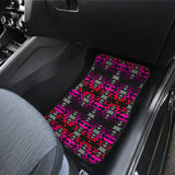 Black Fire Pink and Red Front Car Mats (Set Of 2)