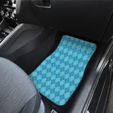 Blue Argyle Front Car Mats Set 2