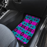 Sovereign Nation Teal and Pink Front Car Mats (Set Of 2)