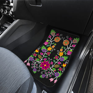 Floral Beadwork-01  Set of 2 Car Mats