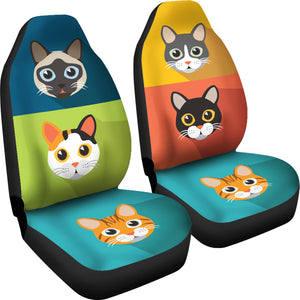 Cute Cats Car Seat Covers for Cat Lovers