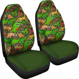 Green Dinosaur Land Car Seat Covers