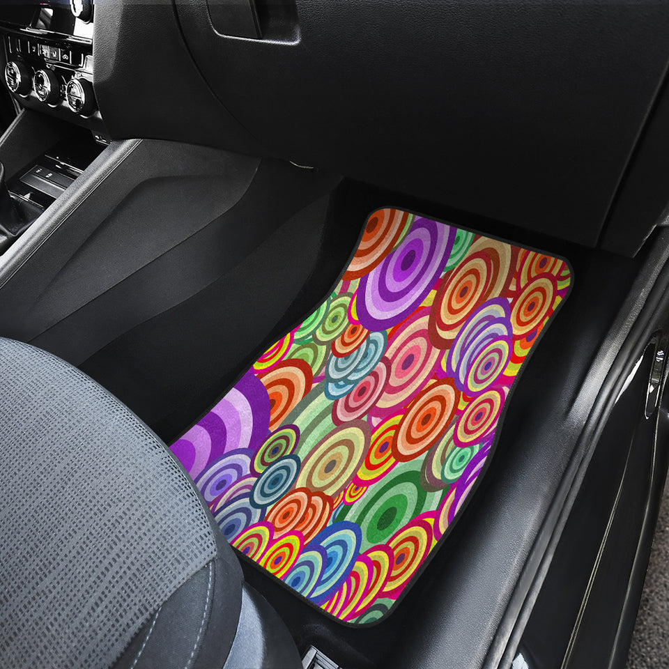 Retro Circles Car Floor Mats