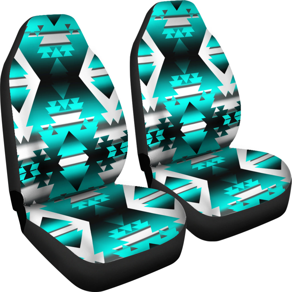 Teal Winter Camp Car Seat Covers