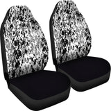 Digital Camo Black & White Car Seat Covers