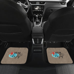 Relax and Enjoy Front And Back Car Mats (Set Of 4)