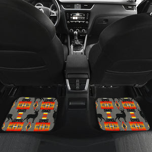 Deer Gray Front And Back Car Mats (Set Of 4)