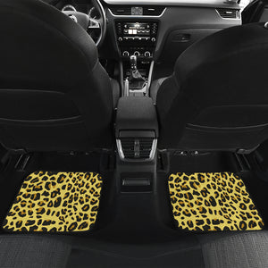 Front And Back Car Mats (Set Of 4) - Leopard