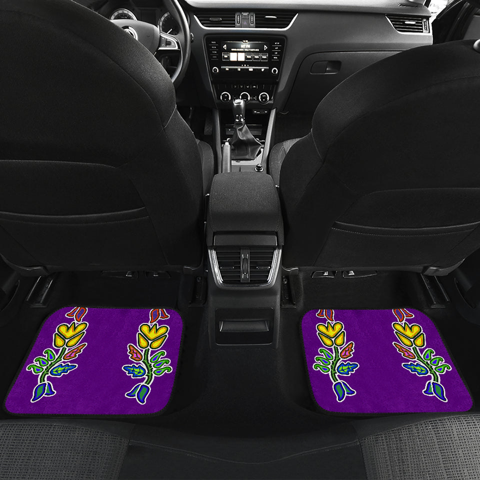 Generations Floral Purple Front And Back Car Mats (Set Of 4)