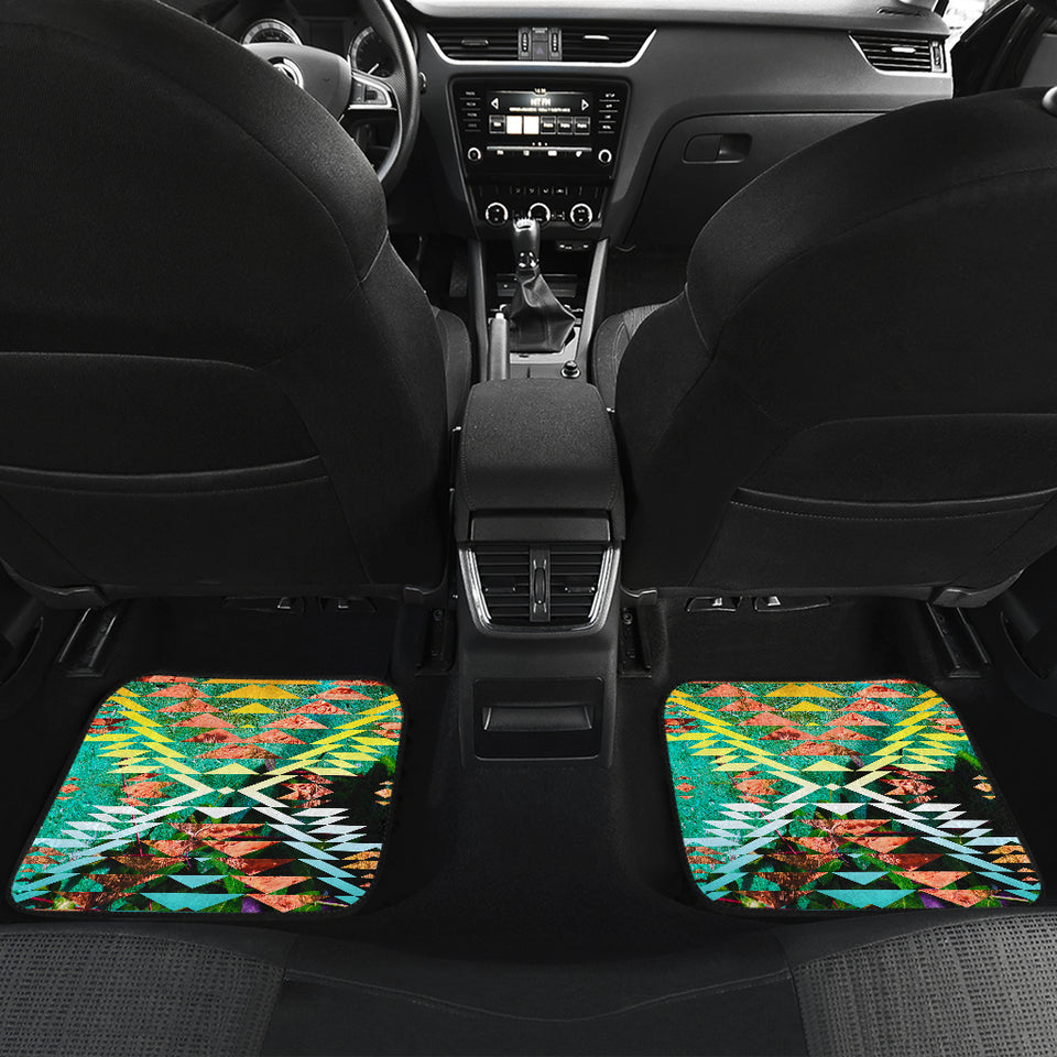 Taos Sunset Camo Front And Back Car Mats (Set Of 4)