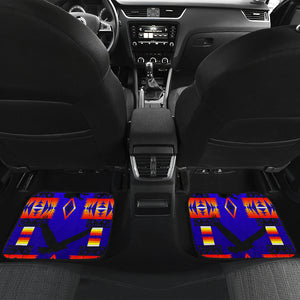 Eagle Blue Front And Back Car Mats (Set Of 4)