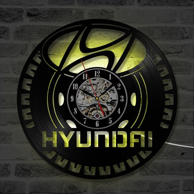H.Y.U.N.D.A.I LED WALL CLOCK