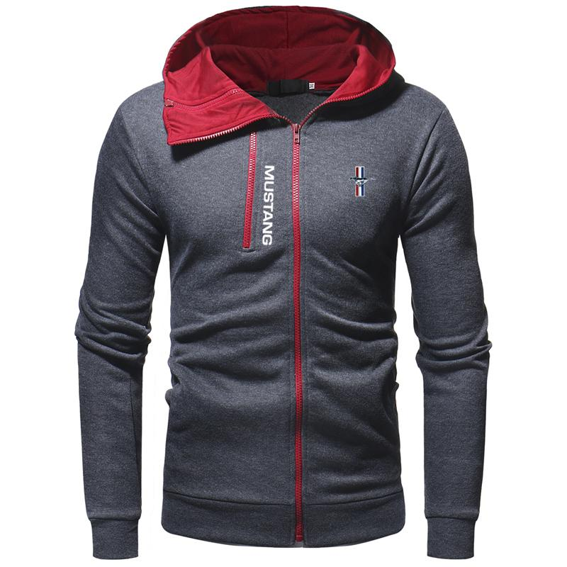M.u.s.t.a.n.g Red Zip Embellish Casual Hoodie