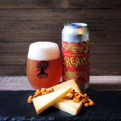 Burley Oak Brewing Co. Double Strawberry Daiquiri JREAM with Cow's Creamery Smoked Cheddar and Love Corn