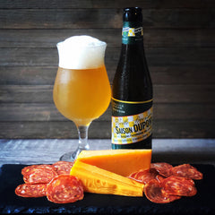 Saison Dupont with Roelli Haus Select and Olli Calabrese Salami