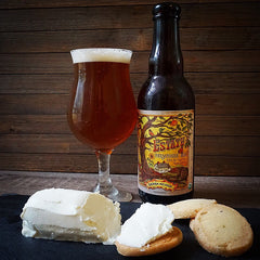 Vermont Creamery Honey Chevre with Lark Shortbreads and The Phase 3 Chantilly IPA