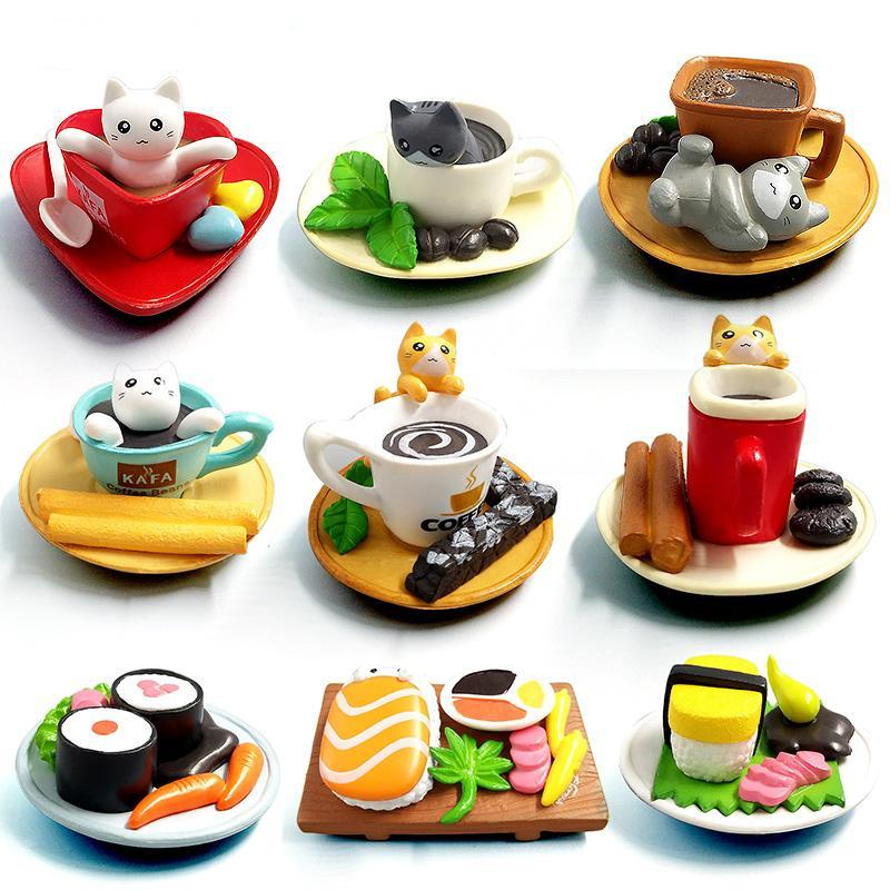 Kawaii cute sushi Dessert Cat figurine