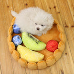Cute Pet Fruit Tart Bed With Five Fruits Toys