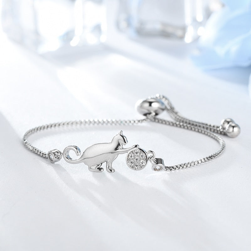 Cute Cat Adjustable Charm Bracelet