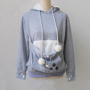 Cat Hoodie With Pouch