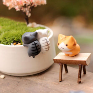 Hot 6 Pcs/Set Cartoon Lucky Cats Micro Landscape Kitten Microlandschaft Pot