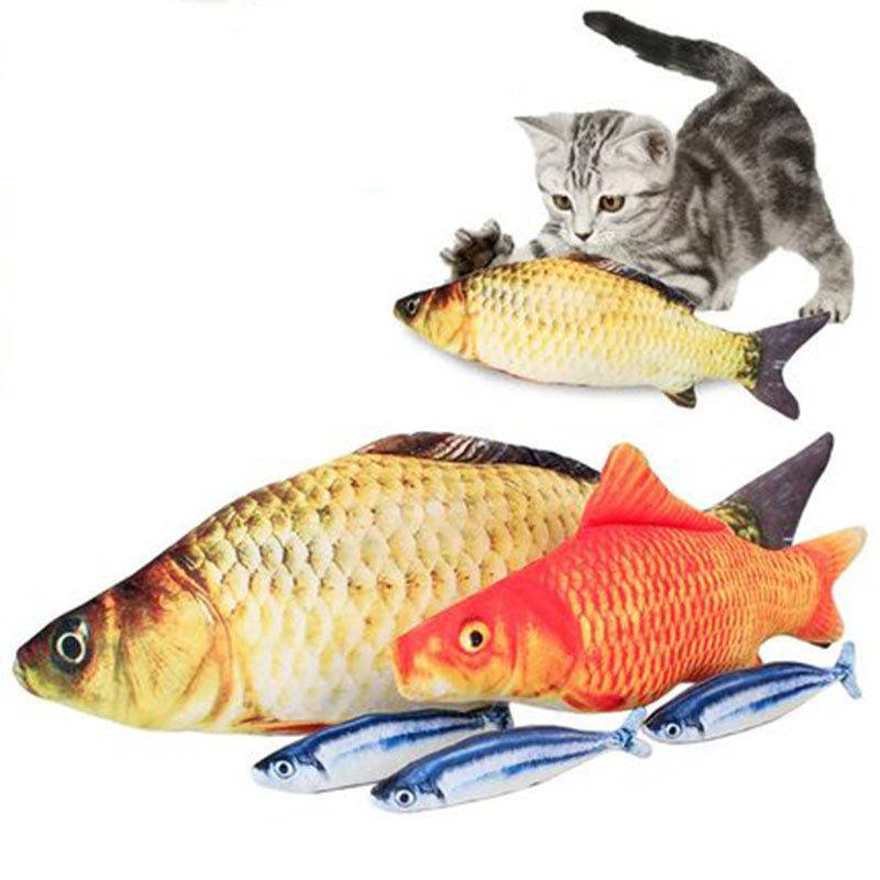 Exclusive Fish Cat Toy Catnip Kicker