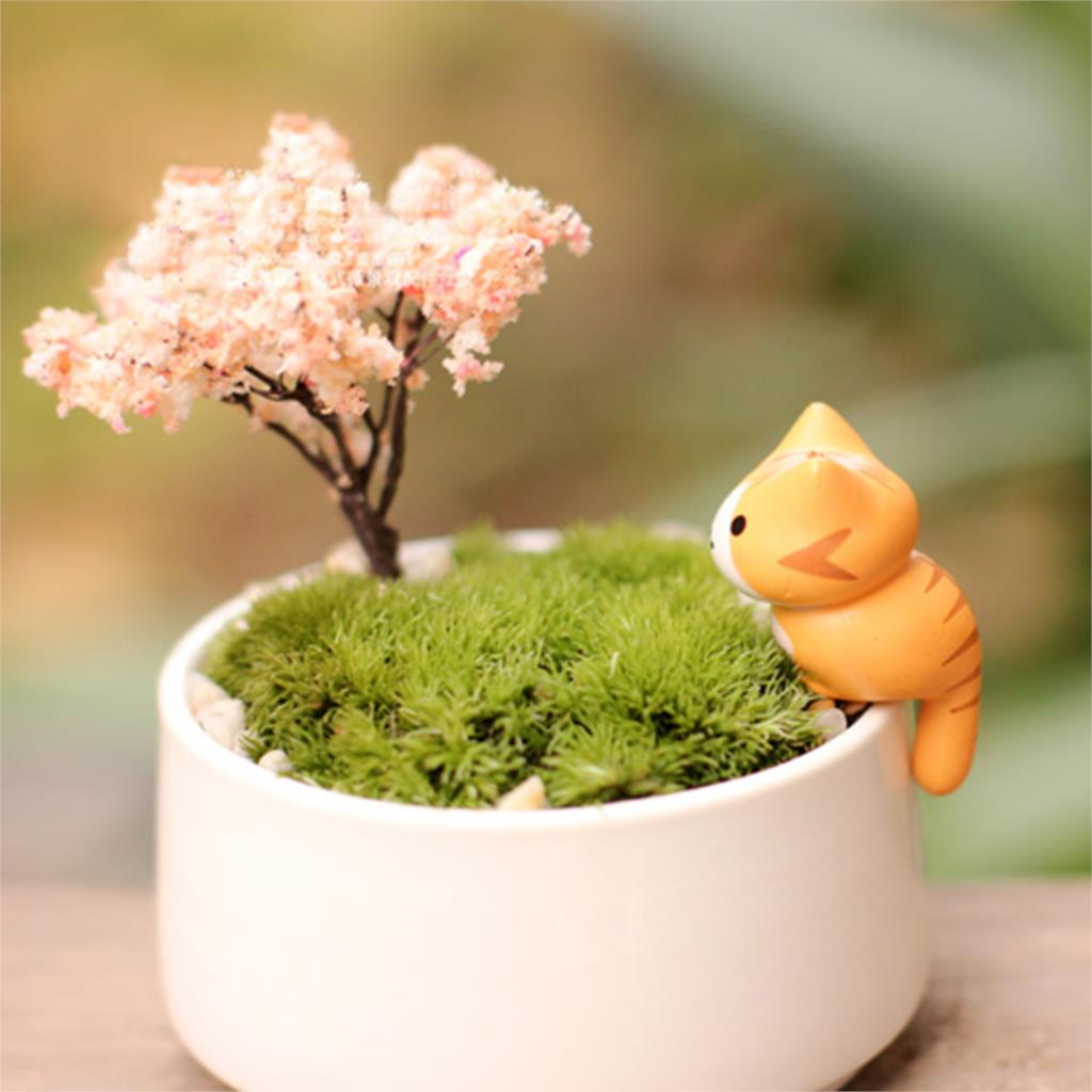 Lovely Cartoon Lucky Cat Micro Landscape Kitten Miniature