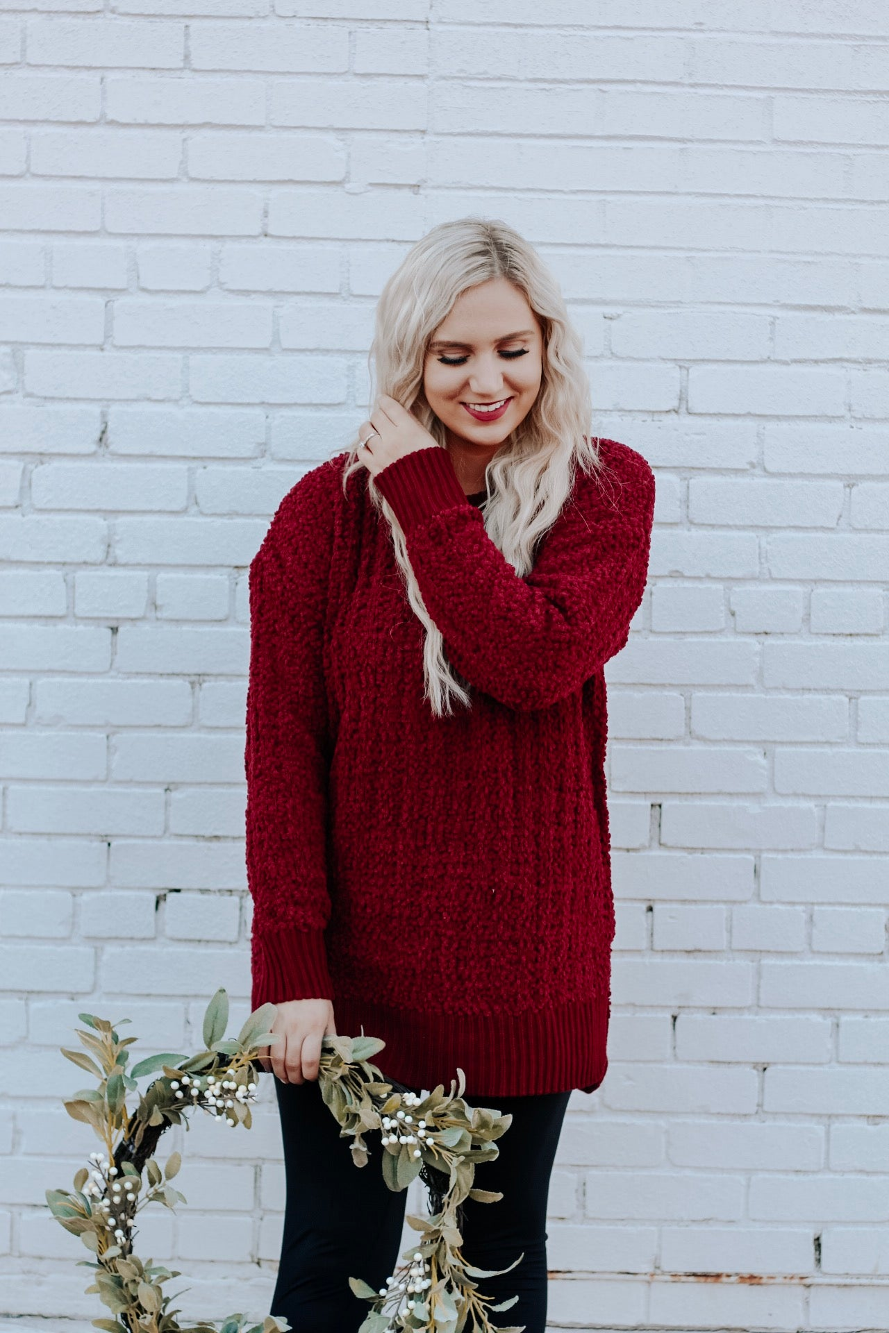 Holly Red Sweater - PLUS SIZE