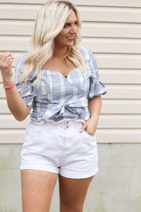 Spring Dreaming Checkered Top