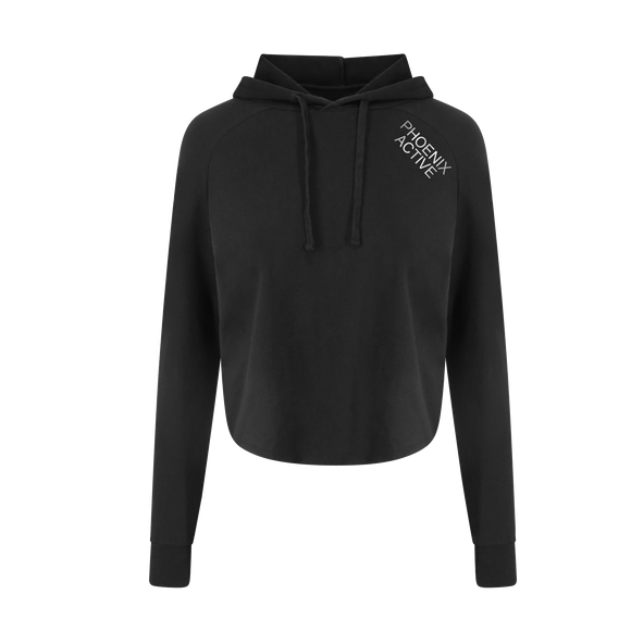 Phoenix Active - Ladies Cross Back Cropped Hoodie